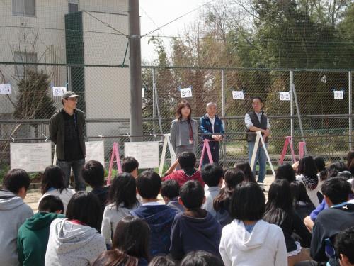 桃山プロジェクト 桃の植樹 桃山小学校